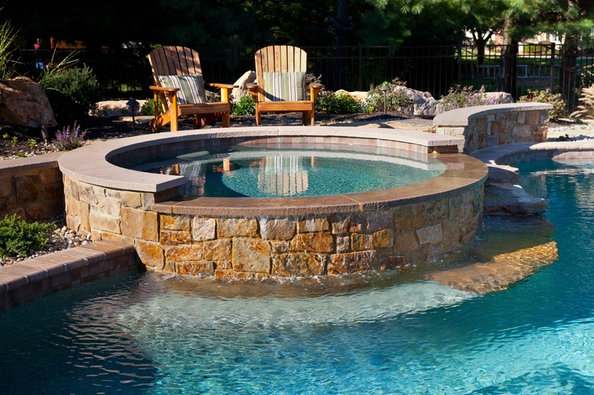 Hot Tub Water Fall Pool