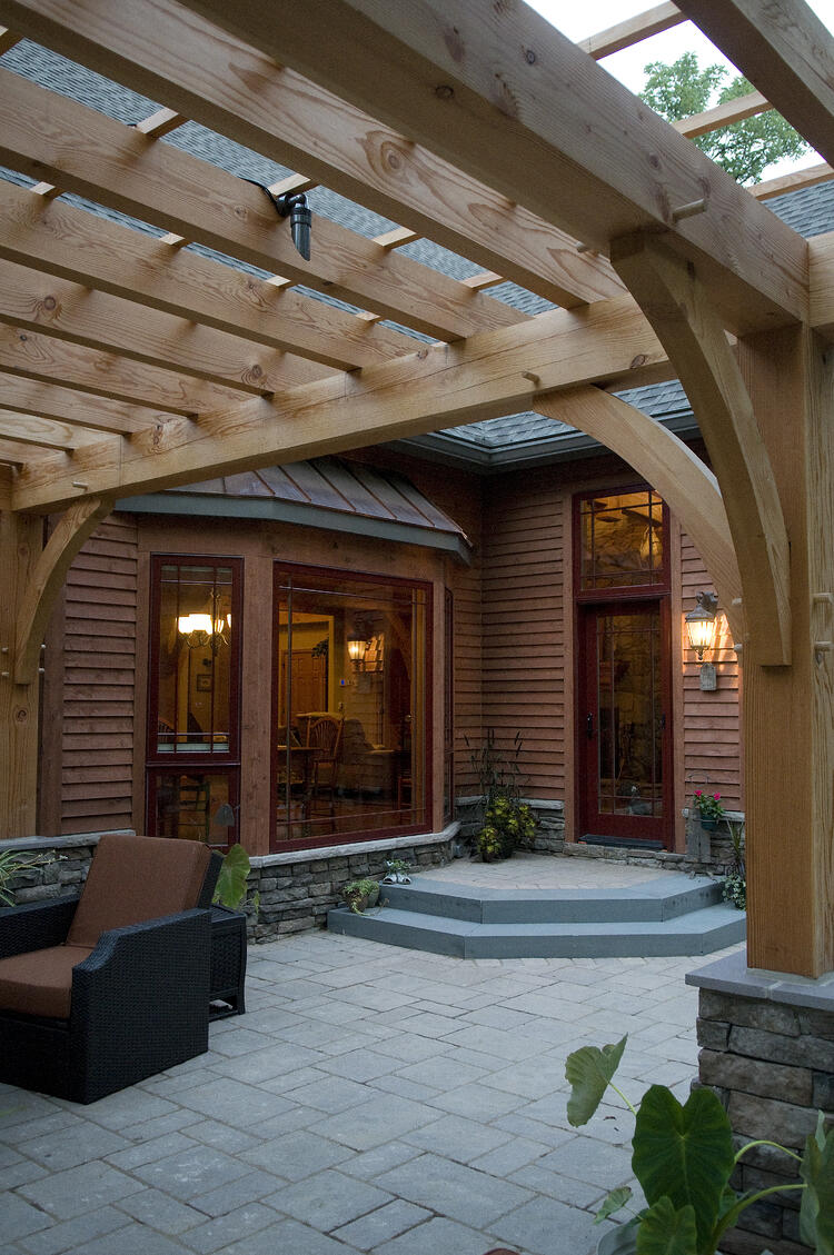 timber frame pergola landscape design