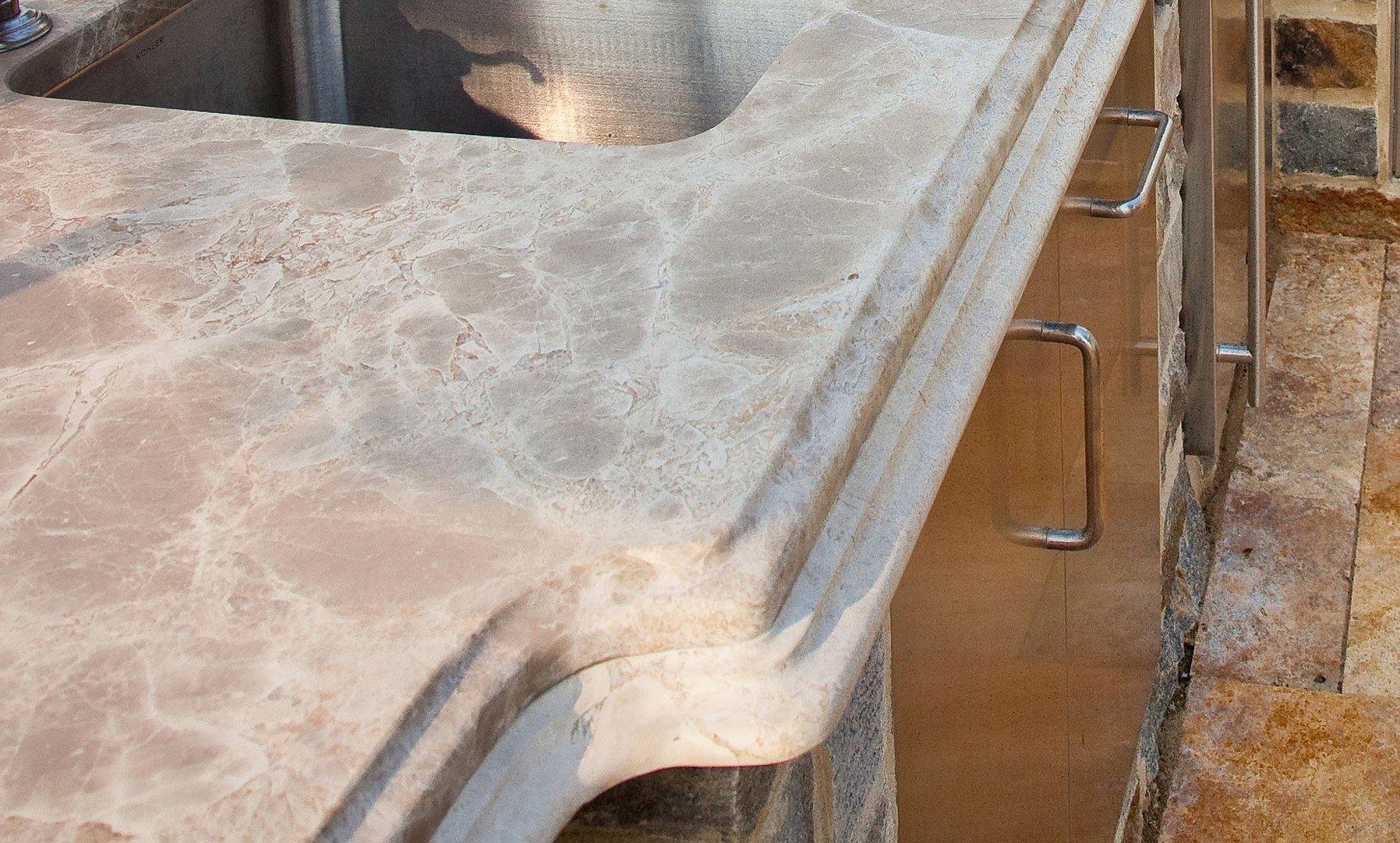 Outdoor Kitchen Countertop Double-Stack Ogee Edge Combination