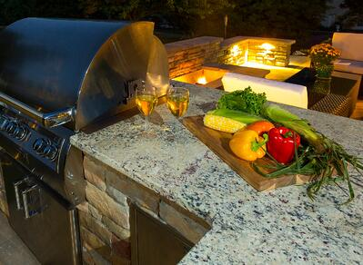 outdoor kitchen countertop