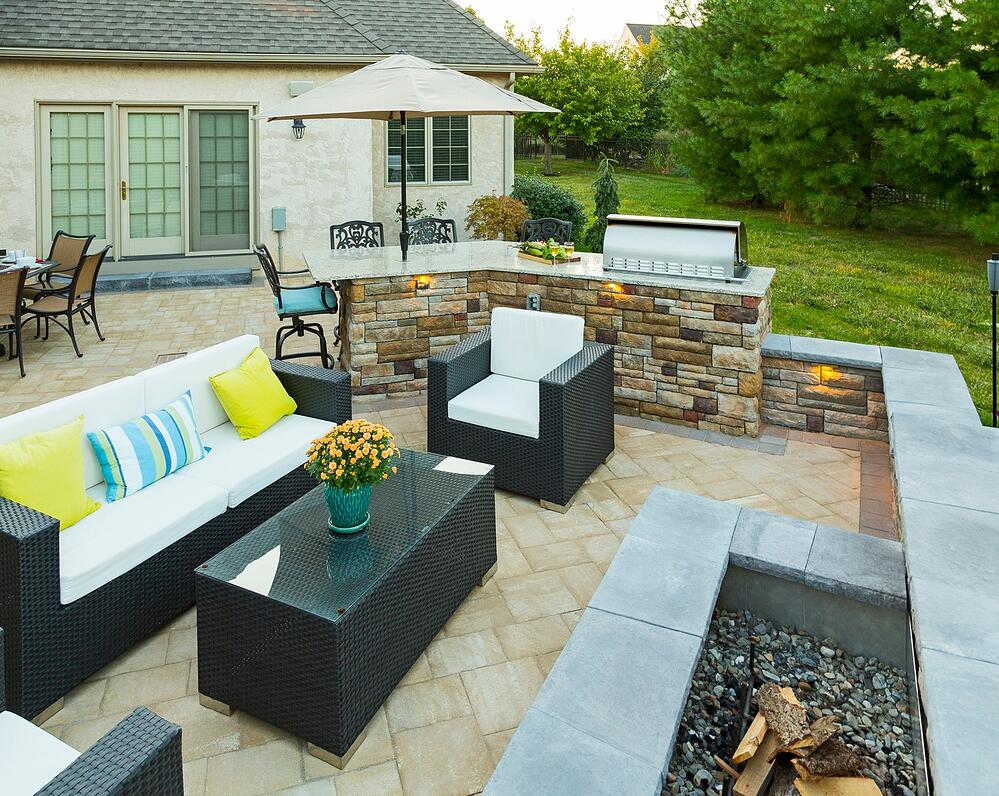 patio with beautiful furniture