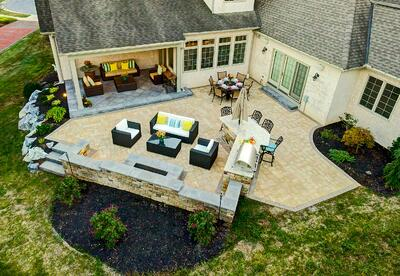 Outdoor Kitchen Paver Patio Case Study Just Outside Of Lancaster Pa