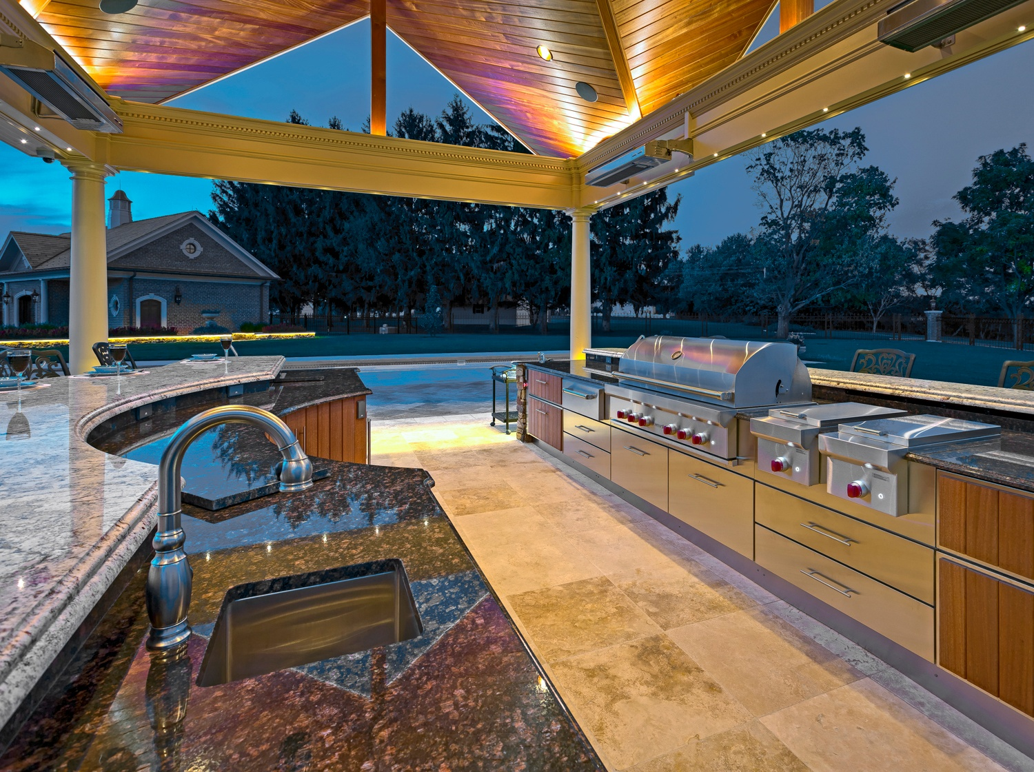 landscape design case study: york, pa outdoor kitchen and pavilion