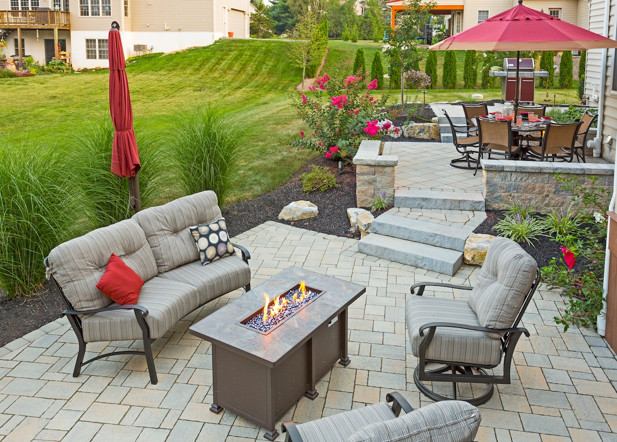 Case Study: Landscapers In Ephrata, PA Create Multi Level Patio Perfect For  Outdoor Entertainment