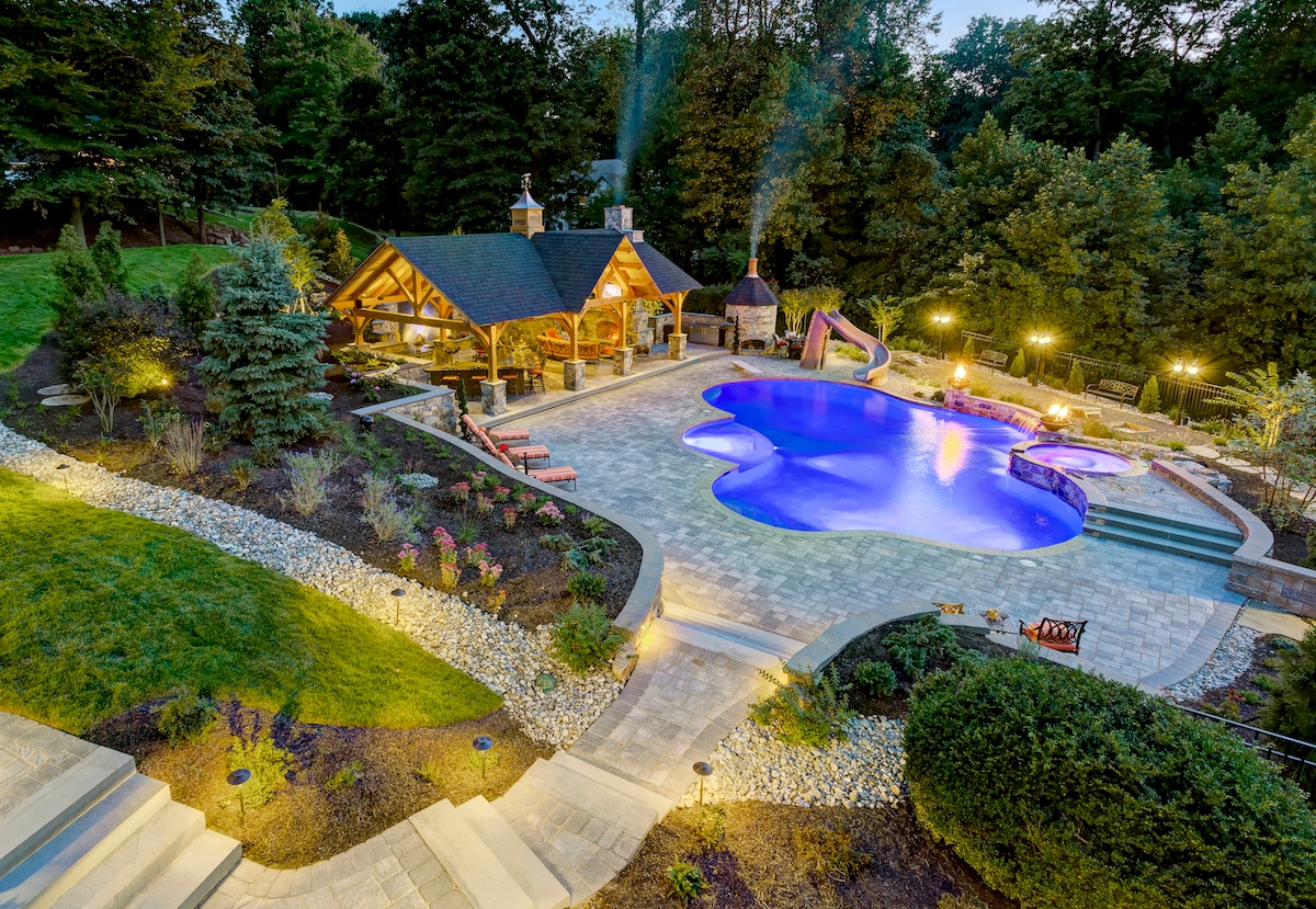 Garner-pool-patio-pavilion-lighting-1
