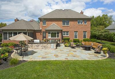 House with new patio in York, PA designed by Earth Turf & Wood