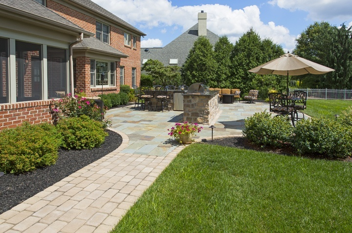 flagstone patio and walkway in York, PA