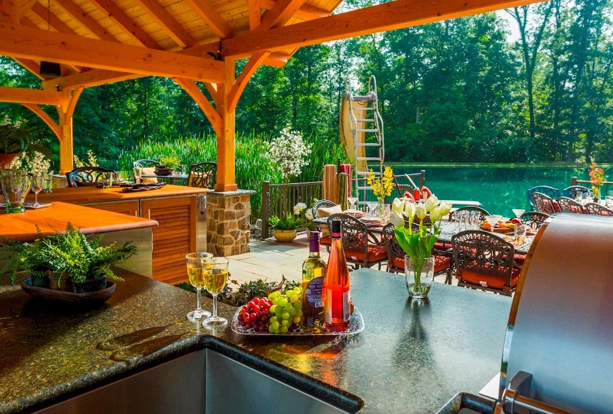 Uba Tube granite outdoor kitchen countertop
