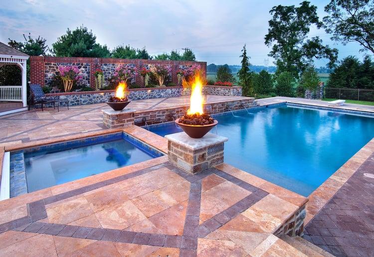landscape design around pools