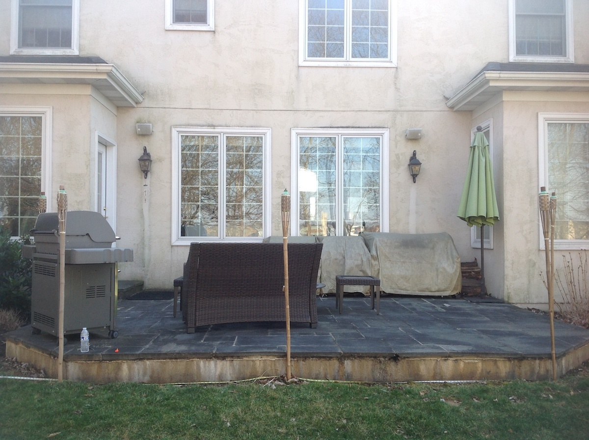 Lititz, PA landscaping case study before patio