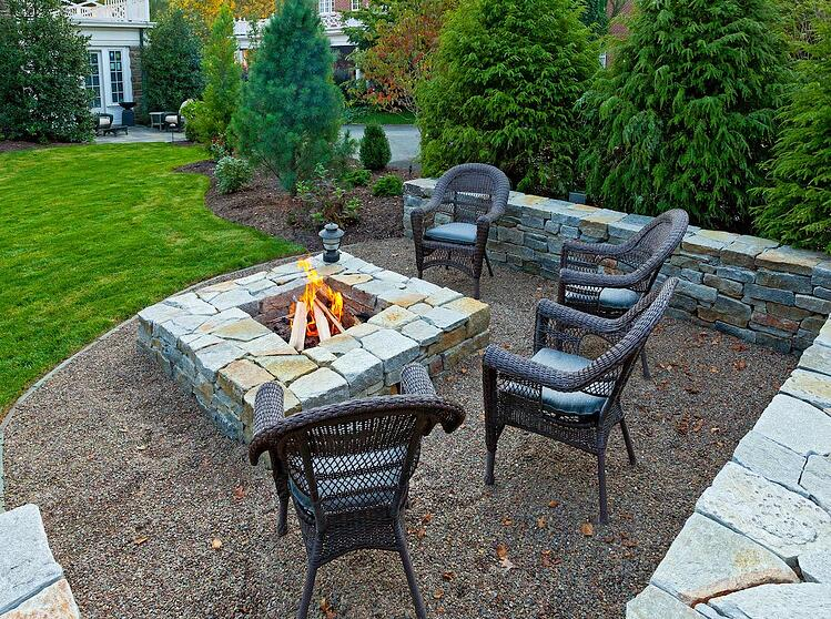 Fire pit with pea gravel Lancaster, PA