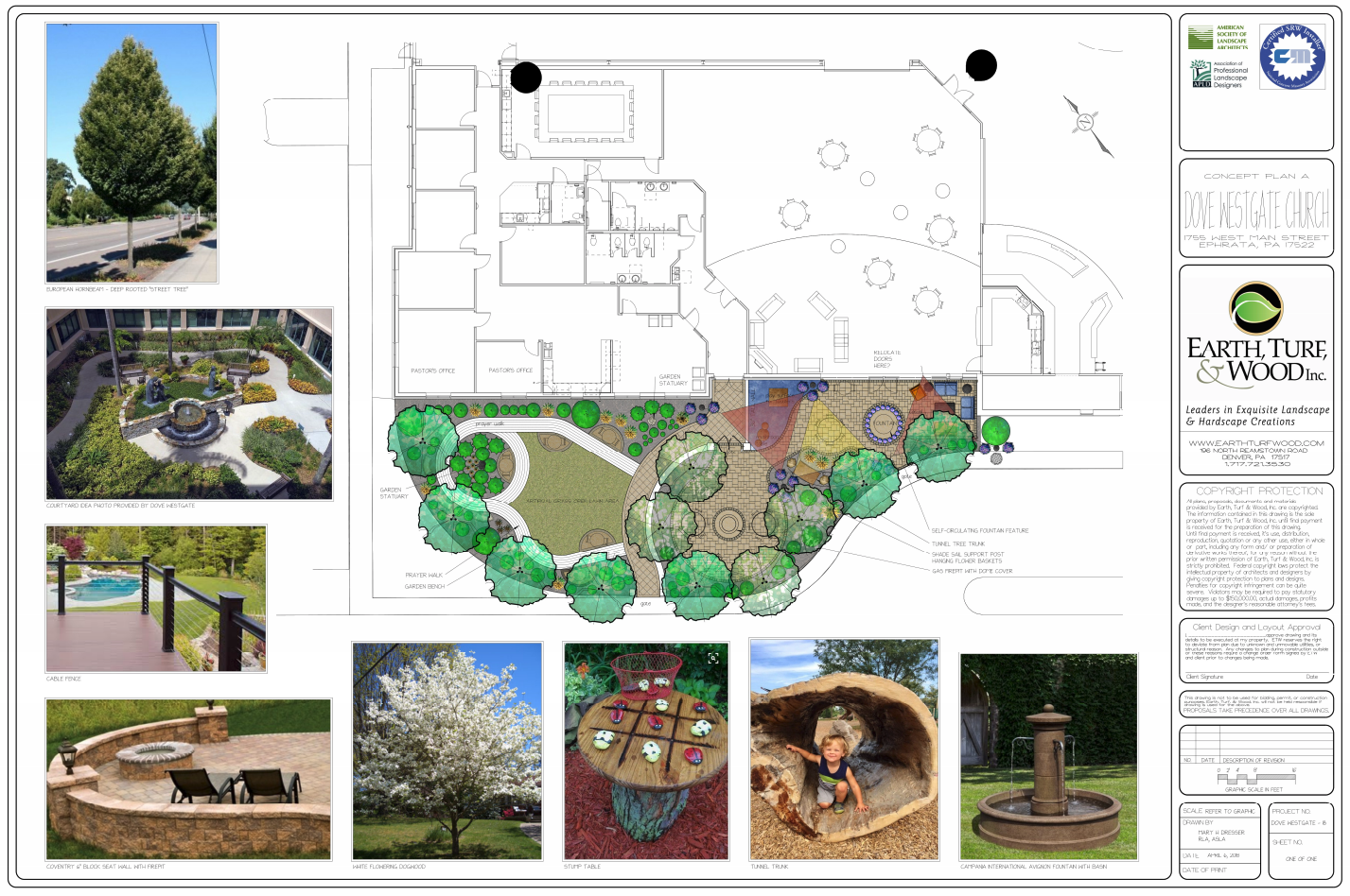 Earth Turf & Wood church landscape design