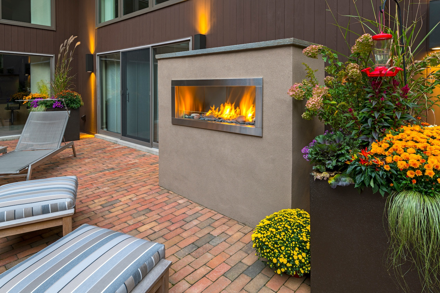 patio fire feature in Reading, PA