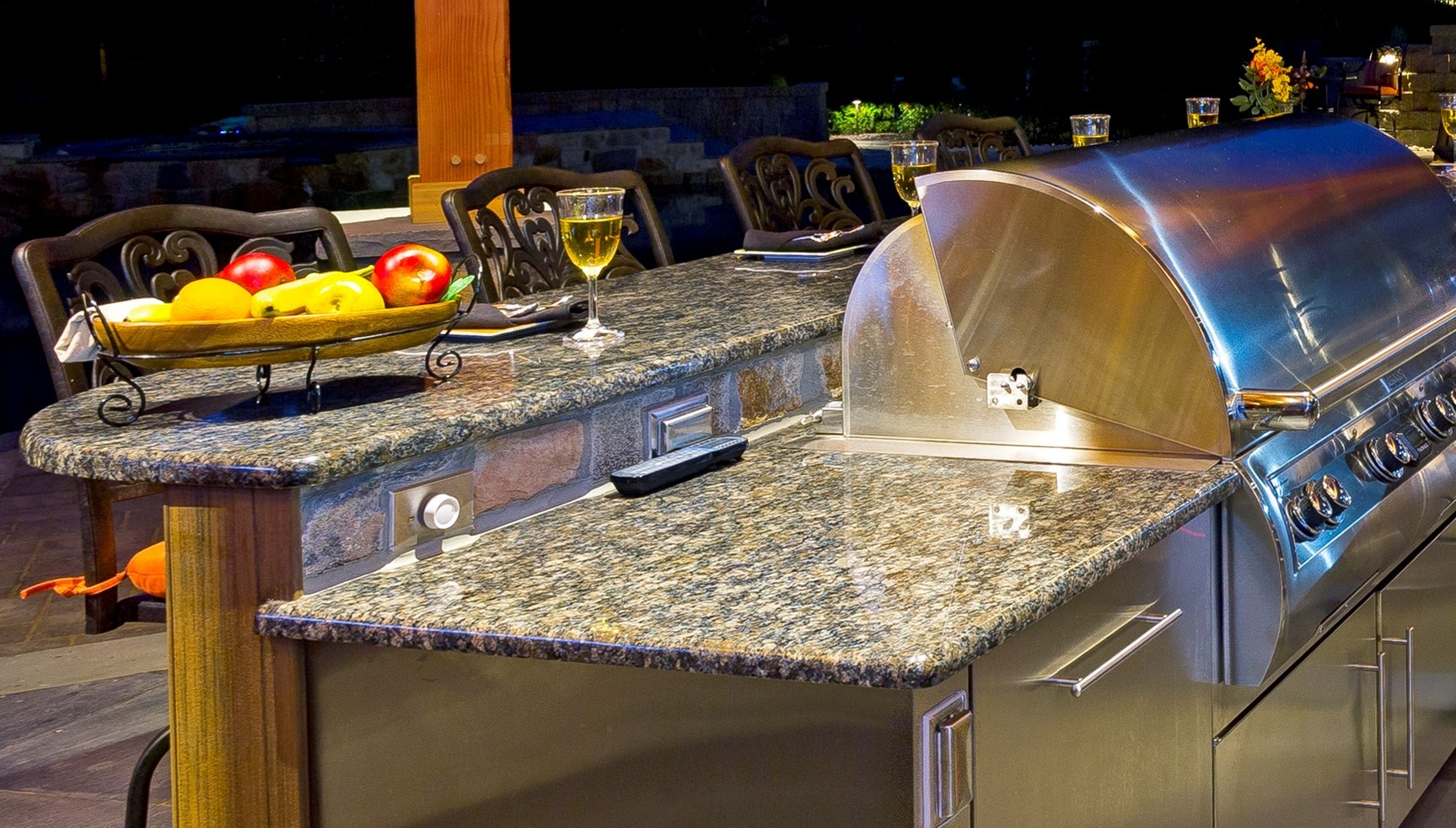Outdoor Kitchen Countertop Half Bullnose Edge