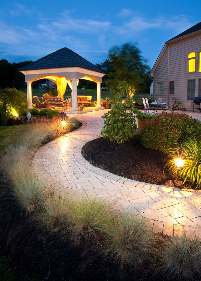 Landscape lighting services in Lancaster, PA, York, Reading and Hershey
