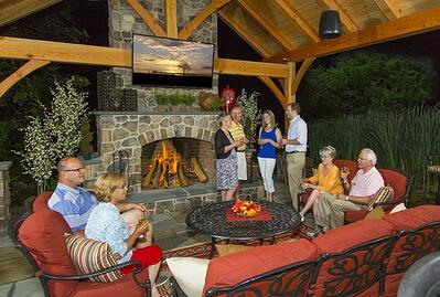 Outdoor fireplace companies in Lancaster, PA, York, Lebanon, Hershey and Reading.
