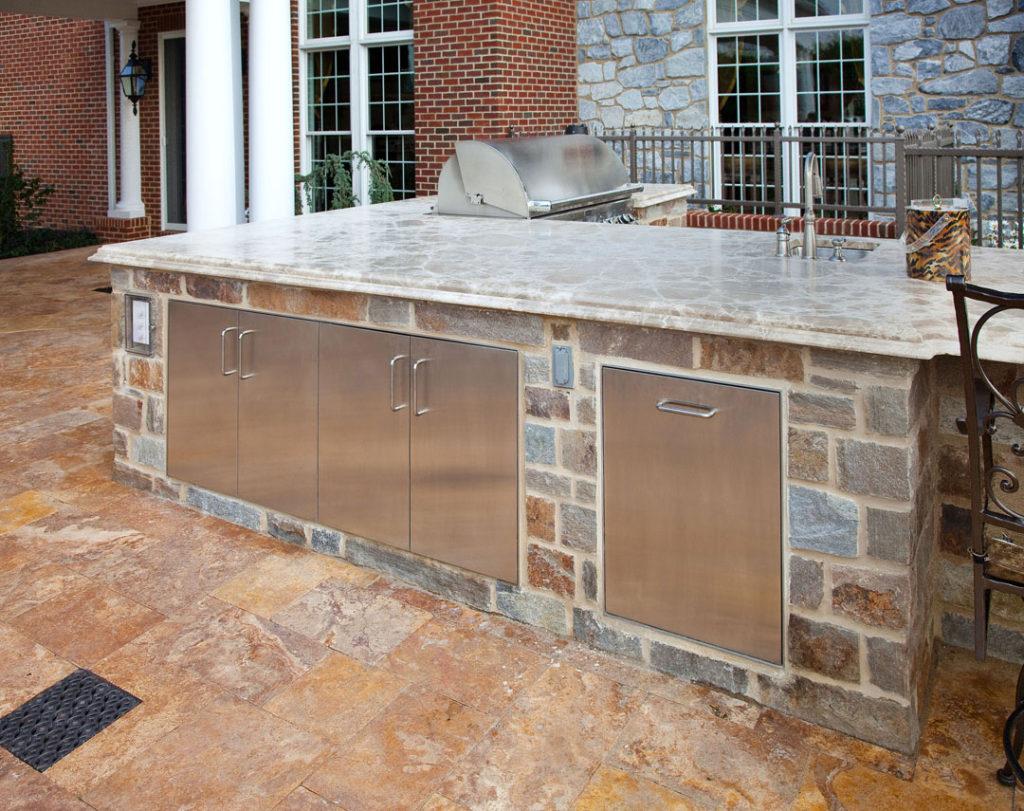 outdoor kitchen counter cabinet storage