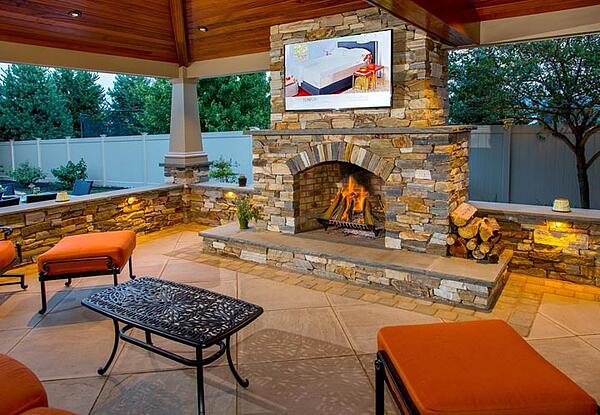 The burning question an outdoor fireplace vs a fire pit - Outdoor fireplace with tv ...