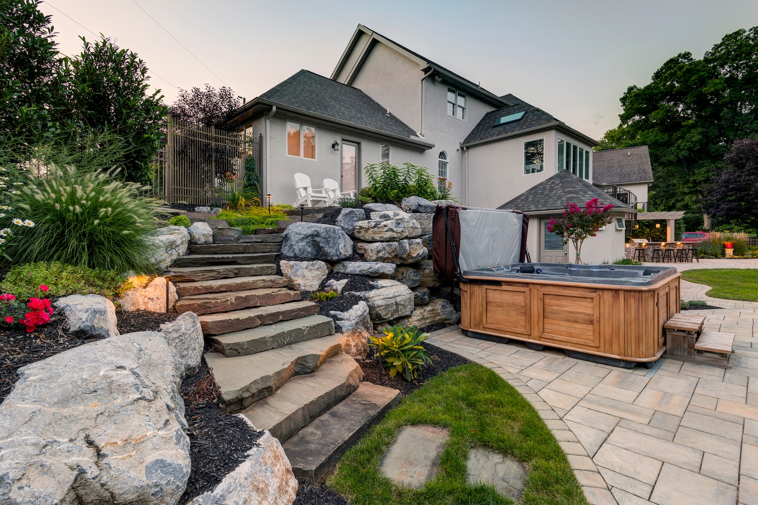 landscape design with stairs to consider before consultation