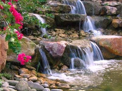 Professional pondless waterfall