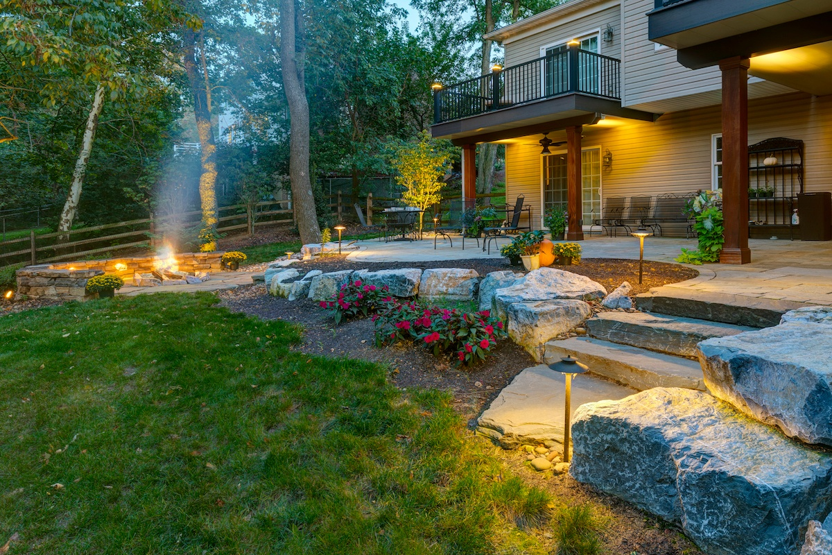 flagstone-patio-fire-pit-lighting-steps-stairs-1