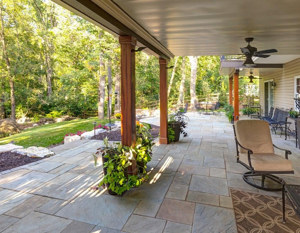 patio under deck design with headroom
