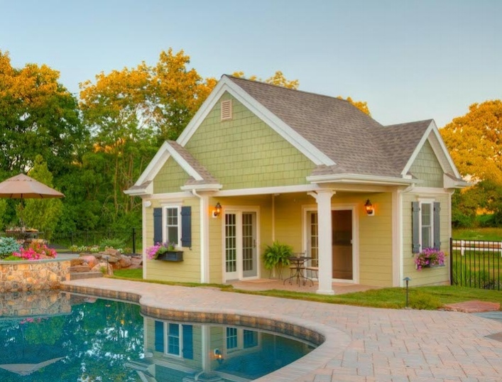 Pool house for storage
