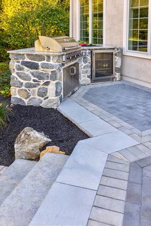 paver patio and steps