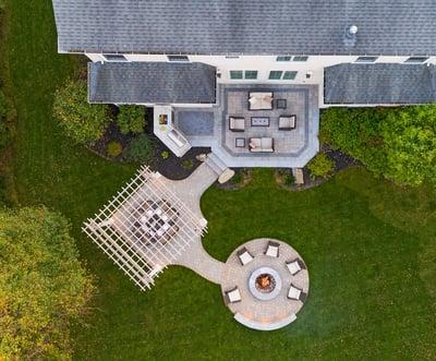 Vakkas-paver-patio-pergola-fire-pit-outdoor-kitchen-aerial