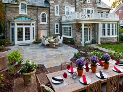 Lancaster PA stone patio design