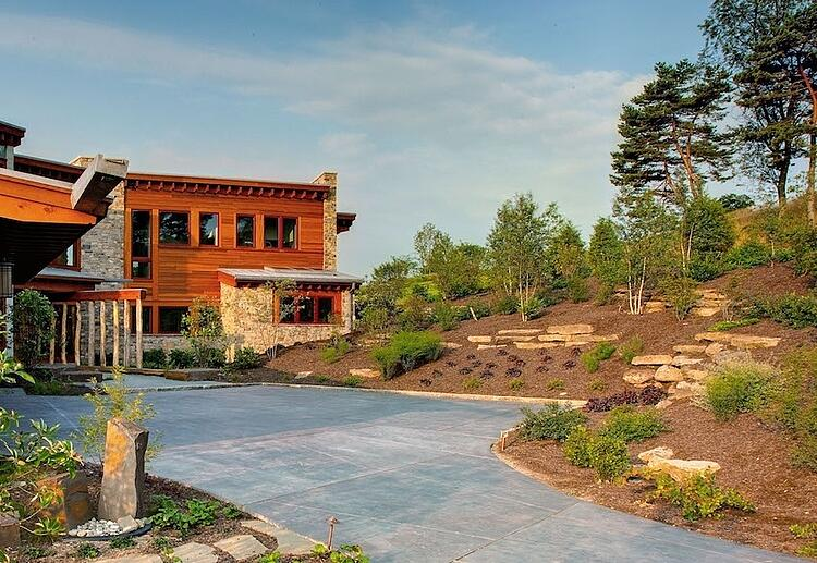Landscaping hill ideas for planting steep slopes and banks in Lancaster or Reading, PA.