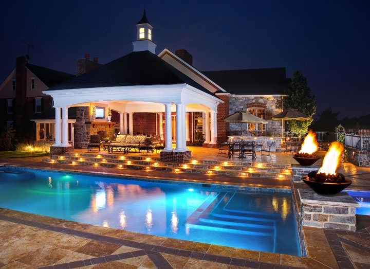 Professional landscape lighting services in Lancaster, PA and Hershey, York and Reading.