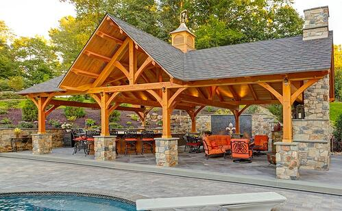 Pavilion design and construction for homes in Lancaster, PA, Reading, York, and Hershey