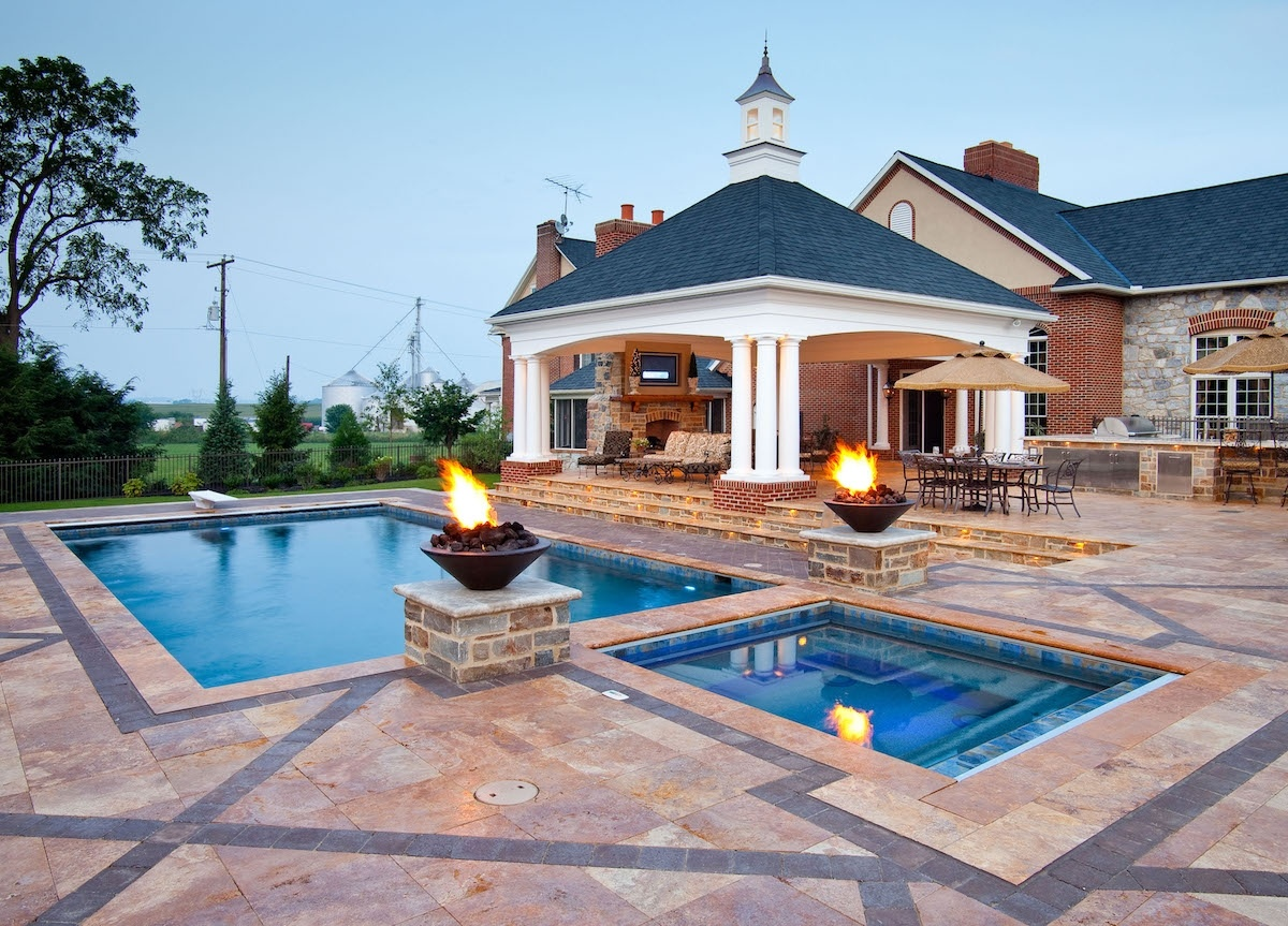 Pool patio and pavilion in Lancaster, PA
