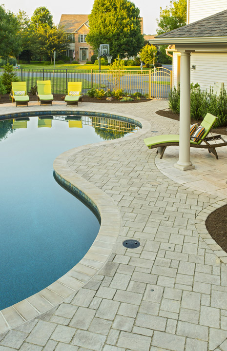Pavilion, Pool, Outdoor Kitchen, and Patio Seating Area in Lancaster, PA