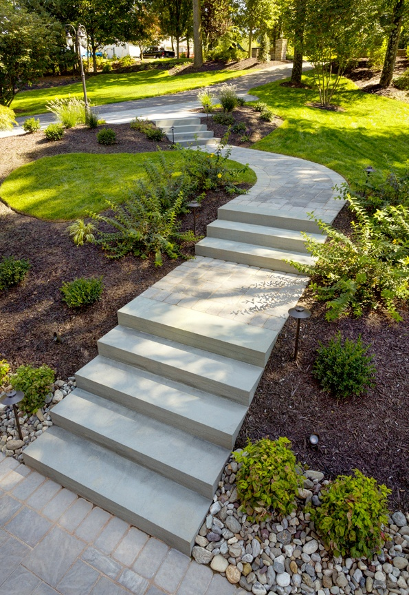 Using Landscape Steps and Walkways to Connect Patios, Pools, Entrances and More