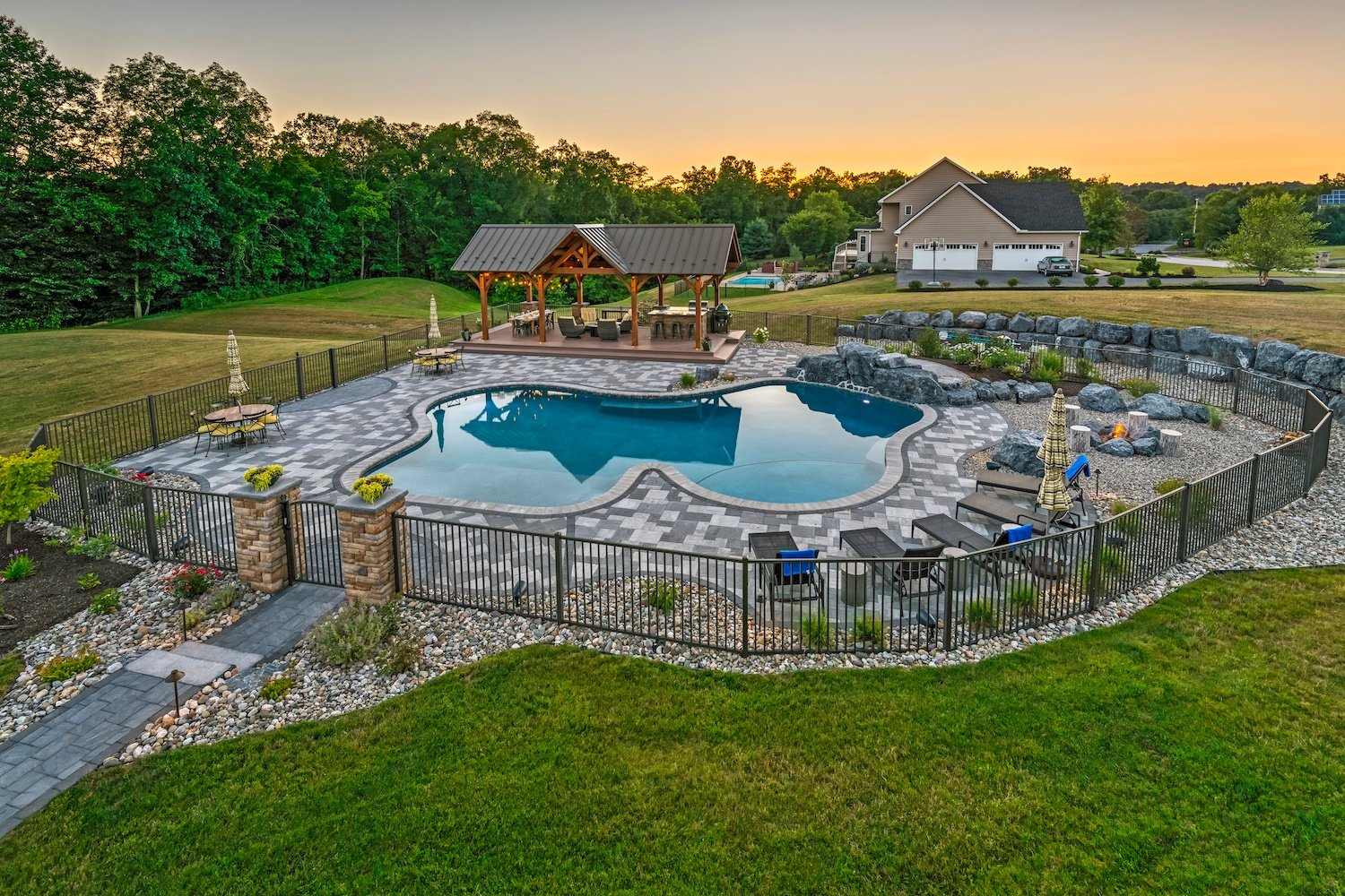 Harrisburg, PA Pool & Landscape Design Case Study: Creating a Family-Friendly Backyard