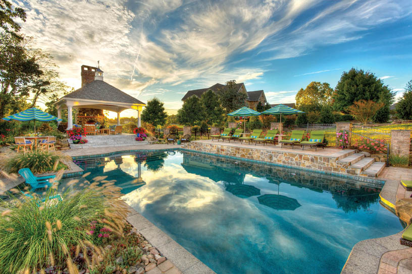 Pavilion, Pool, and Outdoor Kitchen in York, PA