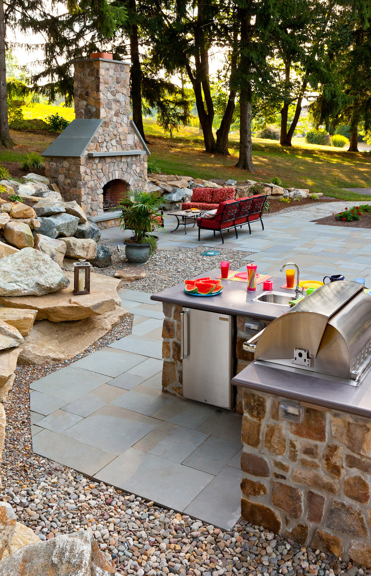Case Study: Downingtown, PA Outdoor Kitchen, Patio, and Outdoor Fireplace